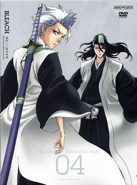 Studio Pierrot, Bleach, Toshiro Hitsugaya, Byakuya Kuchiki, DVD Cover