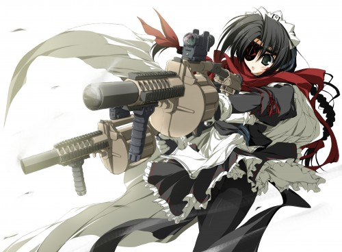 suzuri  maid with guns