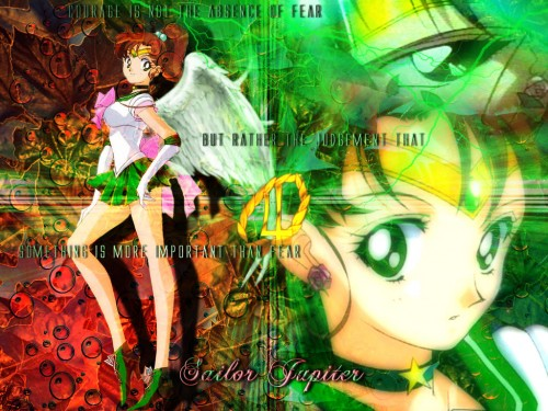 Toei Animation, Bishoujo Senshi Sailor Moon, Sailor Jupiter Wallpaper