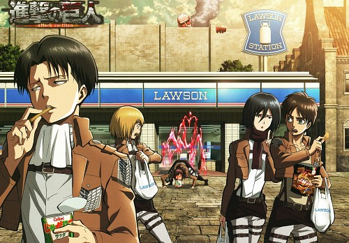 Production I.G, Shingeki no Kyojin, Armin Arlert, Levi Ackerman, Mikasa Ackerman