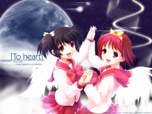 AQUAPLUS, To Heart, To Heart 2, Konomi Yuzuhara, Akari Kamigishi Wallpaper