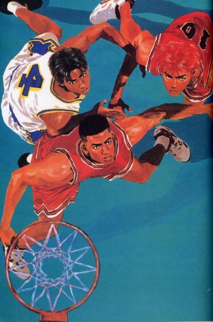 Slam Dunk, Inoue Takehiko Illustrations, Hanamichi Sakuragi, Takenori Akagi, Shin'ichi Maki