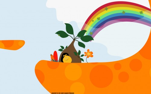 Sony Computer Entertainment Inc, LocoRoco, Vector Art Wallpaper