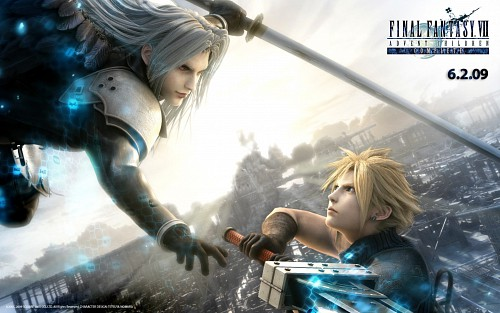 Square Enix, Final Fantasy VII: Advent Children, Sephiroth, Cloud Strife, Official Wallpaper