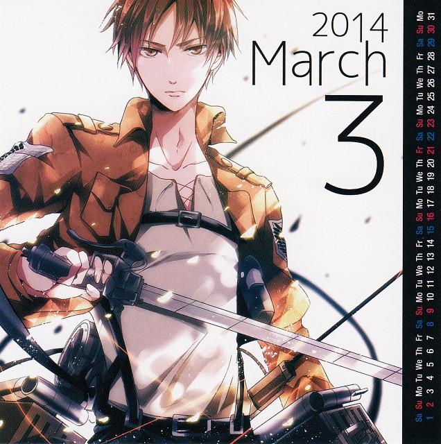 Maine, Shingeki no Kyojin, Shingeki no Kyojin 2014-2015 Calendar, Eren Yeager, Calendar