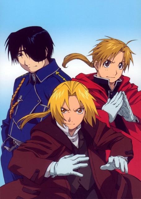 BONES, Fullmetal Alchemist, Roy Mustang, Alphonse Elric, Edward Elric
