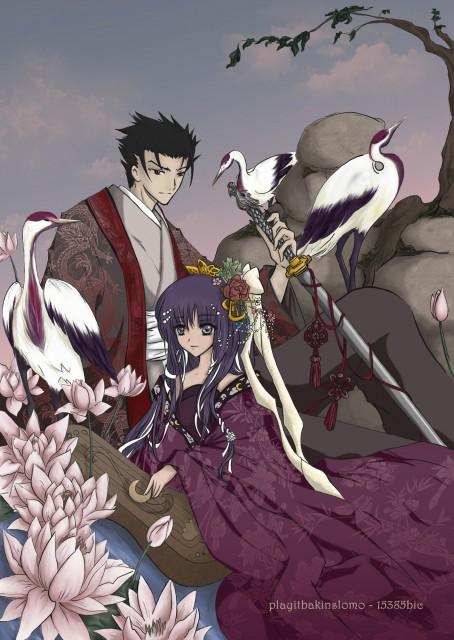 Tsubasa Reservoir Chronicle, Tomoyo Daidouji, Kurogane, Member Art, Collaboration
