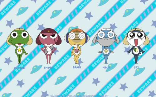 Mine Yoshizaki, Keroro Gunsou, Giroro, Tamama, Dororo Wallpaper