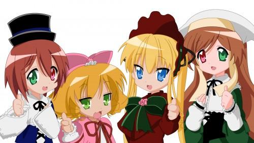 Lucky Star, Miyuki Takara, Kagami Hiiragi, Konata Izumi, Tsukasa Hiiragi