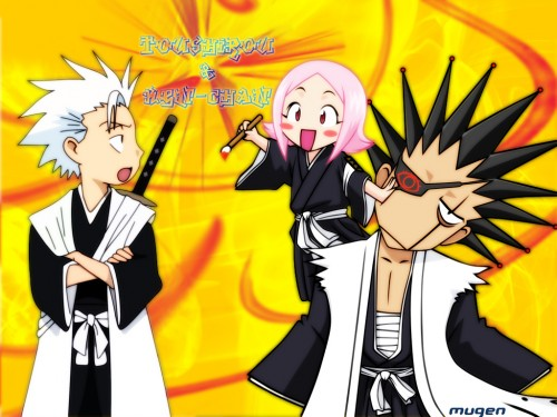 Kubo Tite, Studio Pierrot, Bleach, Kenpachi Zaraki, Yachiru Kusajishi Wallpaper