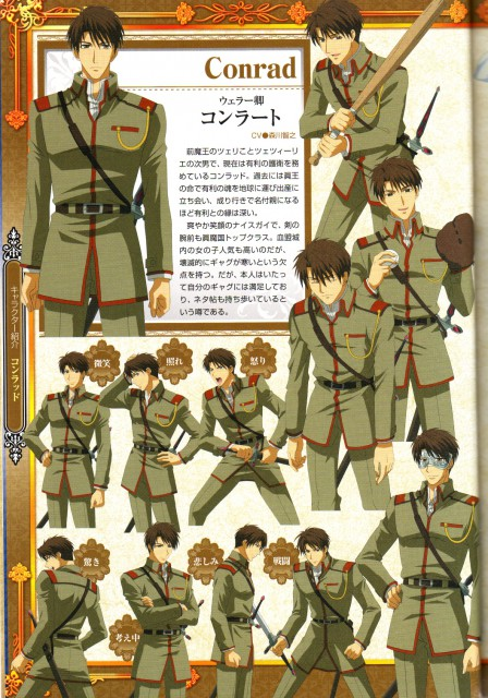 Temari Matsumoto, Studio Deen, Kyou Kara Maou, Conrad Weller, Character Sheet