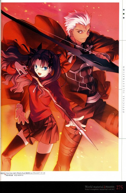 TYPE-MOON, Fate/complete material III World material., Fate/stay night, Rin Tohsaka, Archer (Fate/stay night)