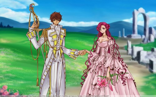 CLAMP, Lelouch of the Rebellion, Suzaku Kururugi, Euphemia Li Britannia Wallpaper