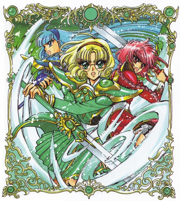 CLAMP, Magic Knight Rayearth, Magic Knight Rayearth Illustrations Collection, Hikaru Shidou, Umi Ryuuzaki