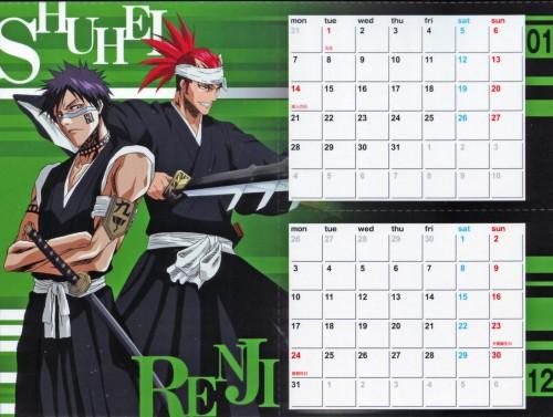 Studio Pierrot, Bleach, Renji Abarai, Shuuhei Hisagi, Calendar