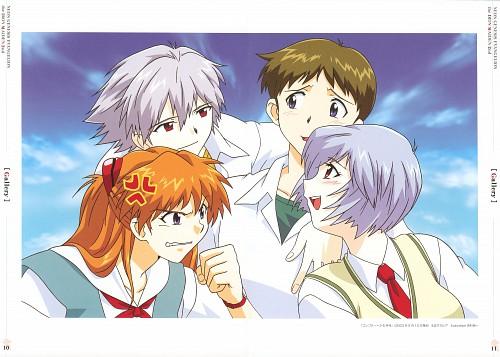 Yoshiyuki Sadamoto, Gainax, Neon Genesis Evangelion, Rei Ayanami, Kaworu Nagisa