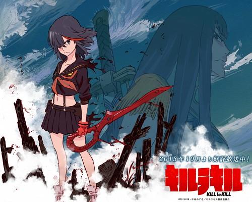 Kill la Kill, Senketsu, Satsuki Kiryuin, Ryuuko Matoi, Official Wallpaper