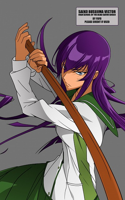 Shouji Sato, Madhouse, High School of the Dead, Saeko Busujima, Vector Art
