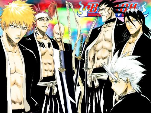 Kubo Tite, Studio Pierrot, Bleach, Ichigo Kurosaki, Ikkaku Madarame Wallpaper