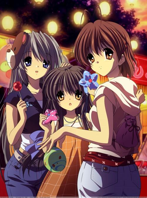 Kyoto Animation, Clannad, Nagisa Furukawa, Fuko Ibuki, Tomoyo Sakagami