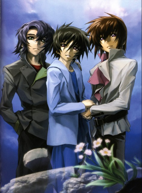 RGB, Mobile Suit Gundam SEED Destiny, Kira Yamato, Shinn Asuka, Athrun Zala