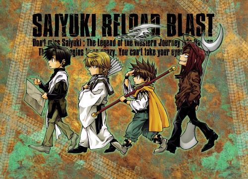 Kazuya Minekura, Saiyuki, Cho Hakkai, Sha Gojyo, Son Goku (Saiyuki)