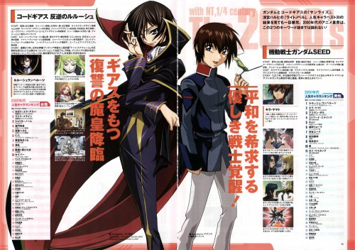 Takahiro Kimura, Sunrise (Studio), Mobile Suit Gundam SEED, Lelouch of the Rebellion, Lelouch Lamperouge