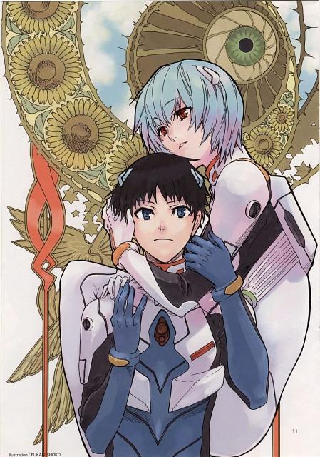 Shouko Fukaki, Neon Genesis Evangelion, Tsubasa wo Kudasai (Artbook), Shinji Ikari, Rei Ayanami