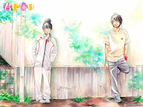 Karuho Shiina, Kimi ni Todoke, Shouta Kazehaya, Sawako Kuronuma, Official Wallpaper