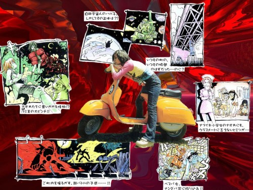 Yoshiyuki Sadamoto, Gainax, FLCL, Haruko Haruhara, Eri Ninamori Wallpaper