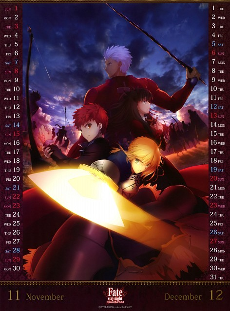 Takashi Takeuchi, TYPE-MOON, Fate/stay night [UBW] 2015 Calendar, Fate/stay night, Saber