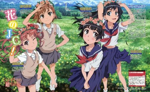 To Aru Kagaku no Railgun, Mikoto Misaka, Kuroko Shirai, Kazari Uiharu, Ruiko Saten