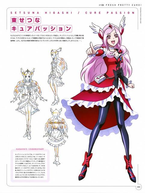 Toei Animation, Fresh Precure!, Hisashi Kagawa Toei Animation Precure Works, Cure Passion, Character Sheet