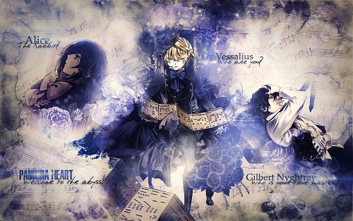 Jun Mochizuki, Xebec, Pandora Hearts, Alice (Pandora Hearts), Gilbert Nightray Wallpaper