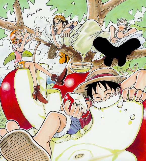 Eiichiro Oda, One Piece, Color Walk 1, Roronoa Zoro, Monkey D. Luffy