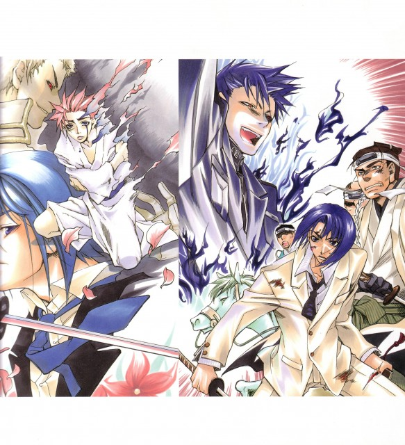 Nanae Chrono, Peacemaker Kurogane, Susumu Yamazaki, Souji Okita (Peacemaker Kurogane), Tetsunosuke Ichimura