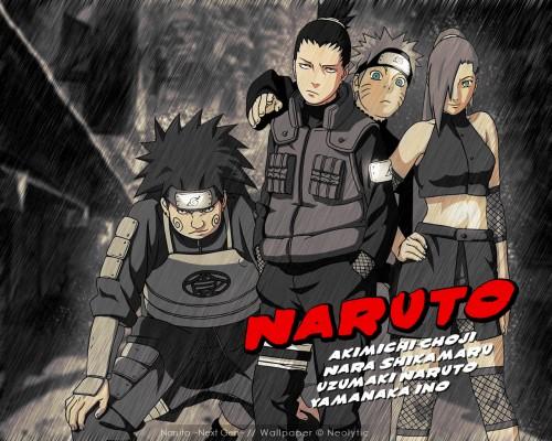 Masashi Kishimoto, Studio Pierrot, Naruto, Shikamaru Nara, Chouji Akimichi Wallpaper