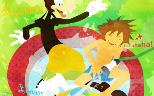 Shiro Amano, Square Enix, Kingdom Hearts, Goofy, Donald Duck Wallpaper