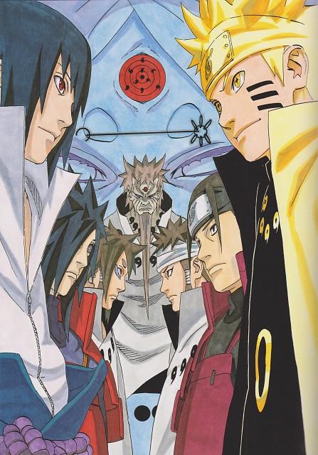 Masashi Kishimoto, Naruto, Hashirama Senju, Madara Uchiha, Sasuke Uchiha