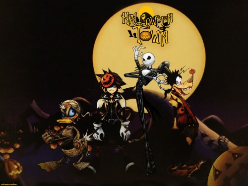 Square Enix, Kingdom Hearts, Jack Skellington, Goofy, Sora Wallpaper