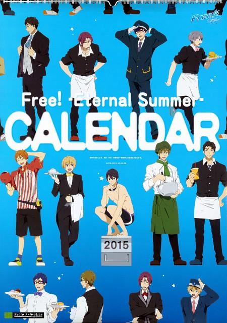 Kyoto Animation, Free!, Free! -Eternal Summer- Calendar 2015, Aiichiro Nitori, Haruka Nanase (Free!)