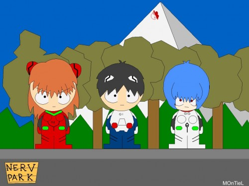 Yoshiyuki Sadamoto, South Park, Neon Genesis Evangelion, Shinji Ikari, Asuka Langley Soryu