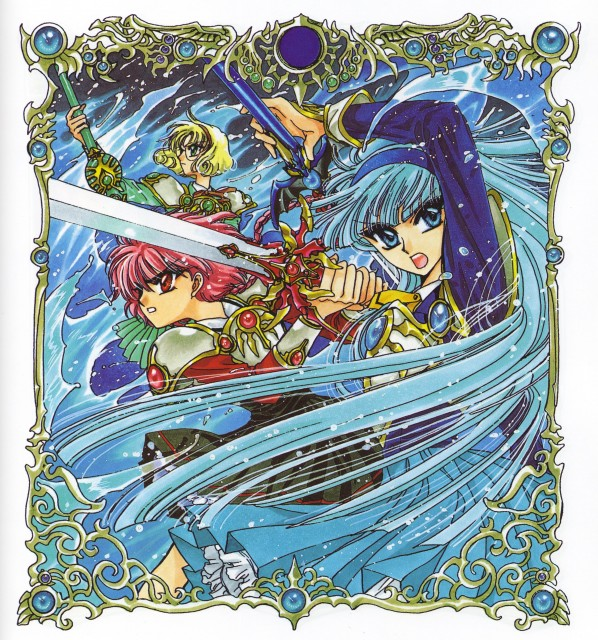 CLAMP, Magic Knight Rayearth, Magic Knight Rayearth Illustrations Collection, Fuu Hououji, Hikaru Shidou