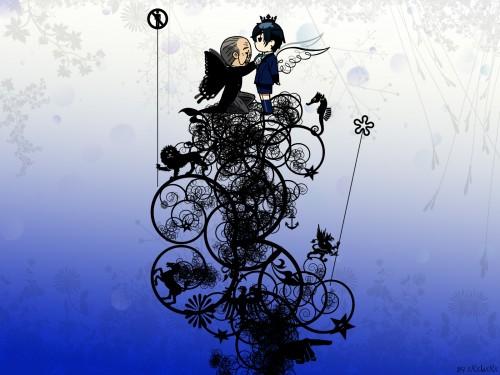 Yana Toboso, A-1 Pictures, Kuroshitsuji, Tanaka, Ciel Phantomhive Wallpaper