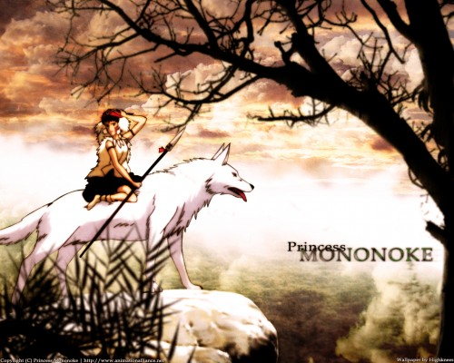 Studio Ghibli, Princess Mononoke, Moro, San Wallpaper