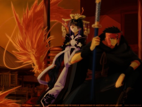 CLAMP, Bee Train, Tsubasa Reservoir Chronicle, Tomoyo Daidouji, Kurogane Wallpaper