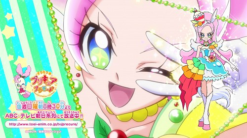 Toei Animation, Kirakira Precure A La Mode, Cure Parfait, Kirarin (Kirakia Precure A La Mode), Official Wallpaper