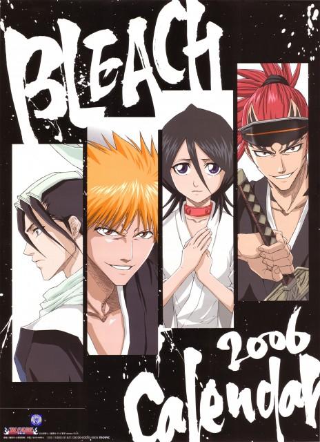 Studio Pierrot, Bleach, Bleach 2006 Calendar, Byakuya Kuchiki, Rukia Kuchiki