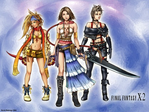 Square Enix, Final Fantasy X-2, Rikku, Yuna, Paine Wallpaper