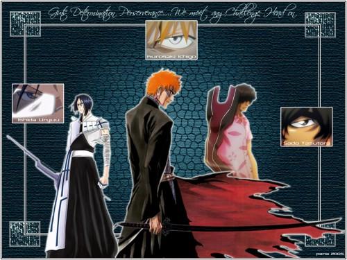 Kubo Tite, Studio Pierrot, Bleach, Uryuu Ishida, Yasutora Sado Wallpaper